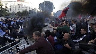 Gewaltsame Proteste in Tirana