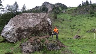 Felsblock löst sich vom Roggenstock