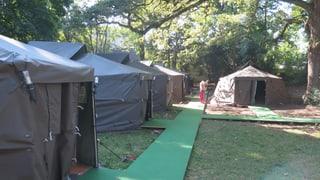 Erste Asylbewerber im Aargau in Zelte einquartiert