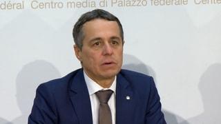 Ignazio Cassis' erste Medienkonferenz als Bundesrat