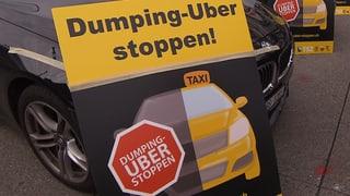 Taxifahrer protestieren in Schweizer Städten gegen Uber