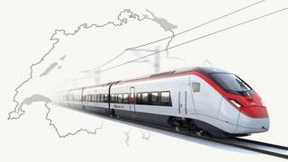 Schweizer Test-Zug auf deutschen Gleisen