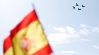 Bereits am 12. Oktober ist ein Kampfjet nach der Militärparade nahe Madrid abgestürzt.