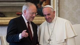 Papa Francestg ha retschavì Johann Schneider-Amman