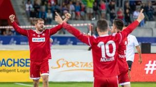 Schweizer Faustballer gewinnen gegen Brasilien
