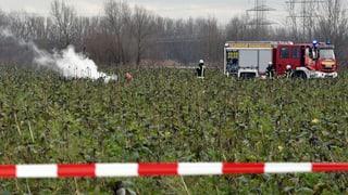Kleinflugzeug und Helikopter stossen in Deutschland zusammen