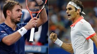 So folgte Federer Wawrinka in den Halbfinal