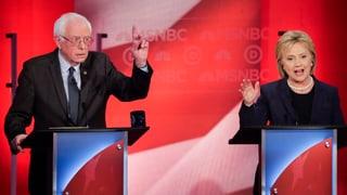 Clinton wirft Sanders Schmierenkampagne vor