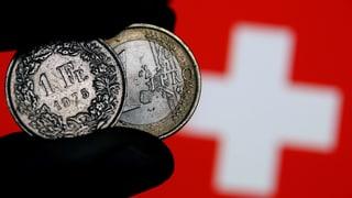 Franken verliert gegenüber Euro an Stärke