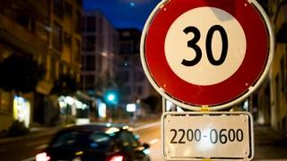 Nächtliches Tempo 30 bringt den TCS auf 100