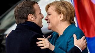 Merkel und Macron beschwören Einheit Europas