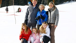 Niederländische Royals in Österreich: Königlicher Spass im Schnee