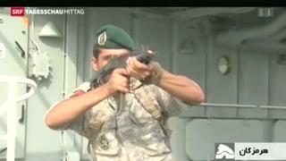 Irans Marine übt und testet neue Waffen