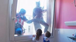 Wenn Batman durchs Fenster kommt