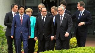 G7 anerkennen Flüchtlingskrise und hoffen auf Wachstum