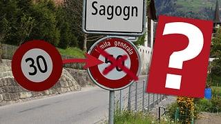 Iniziativa tempo 30 a Sagogn
