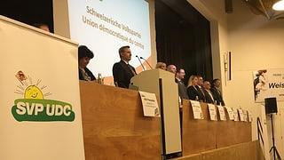 Die SVP des Kantons Bern geht stramm in die eigene Richtung