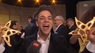 Publikumsliebling: Luca Hänni schlägt Beni Thurnheer am Prix Walo
