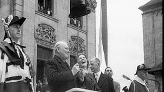 Winston Churchills Triumphzug durch die Schweiz
