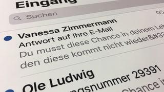 Unda da spams sin mails @bluewin.ch