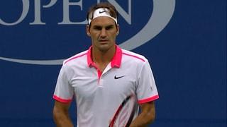 So lief Federers Partie gegen Steve Darcis