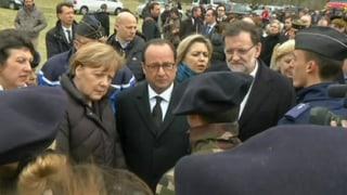 Merkel und Hollande besuchen den Absturzort