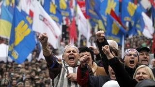 Massenproteste in Kiew