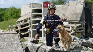Marokkanische Zivilschützer trainieren Erdbeben-Einsatz bei Genf