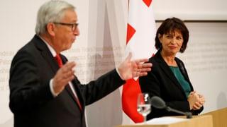 Protokoll der Medienkonferenz von Jean-Claude Juncker und Doris Leuthard