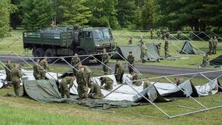 Kanada stellt Zelte für Flüchtlinge aus den USA auf.