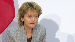 Widmer-Schlumpf lobt Vertrauen in Nationalbank
