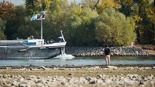 Rheinschifffahrt ab Basel wegen Niedrigwasser eingestellt