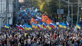 «Nein zum Krieg!» – Friedensmarsch in Moskau