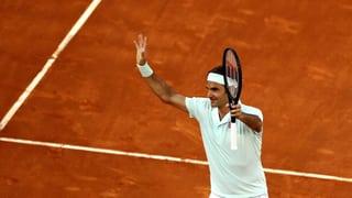 Federer besteht ersten Sand-Test gegen Gasquet