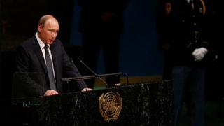 Putin: «Assad kämpft gegen den Terror»