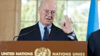 Hoffnungsträger am Pulverfass: UNO-Syrienvermittler de Mistura