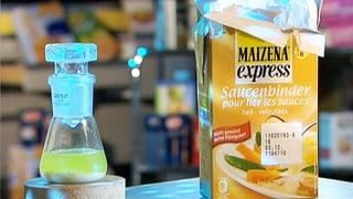 Erdöl im Essen aus der Verpackung