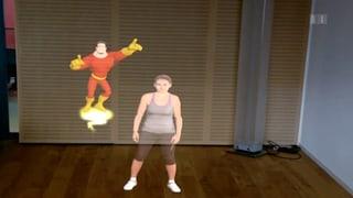 Billigere Kniebeugen mit Avatar statt Therapeut