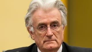 Radovan Karadzic sieht sich als Opfer