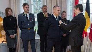 Walliser Rettungskräfte erhalten einen belgischen Orden