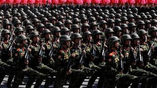 Nordkorea verzichtet bei Parade auf Säbelrasseln
