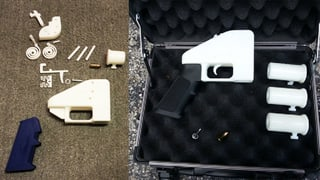 Warnschuss mit der Pistole aus dem 3-D-Drucker