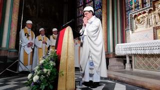 Erste Messe nach dem Grossbrand gehalten