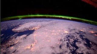 Astronaut fängt strahlende Nordlichter ein