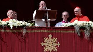 Papst Franziskus fordert Frieden