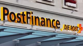 Postfinance: Weniger Zins, höhere Gebühren