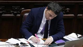 Italiens Premier zückt den Rotstift