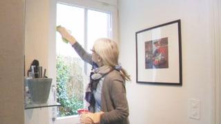 Teurer Fensterputzer mit unsauberen Geschäftsmethoden