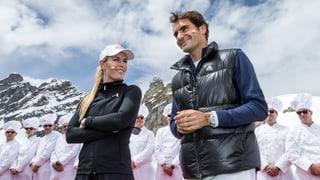 Tennis auf dem Gipfel: Roger Federer gegen Lindsey Vonn