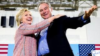 Hillary Clinton vul Tim Kaine sco vicepresident